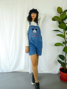 Disney Mickey Mouse Short Denim Dungaree