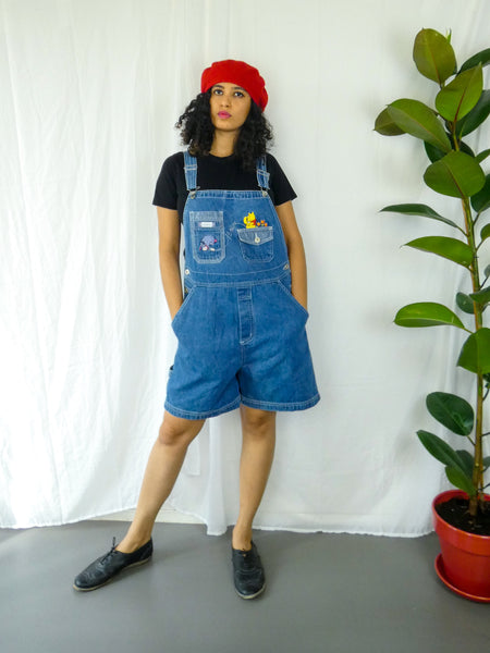 Denim with Pooh and Eeyore Dungaree