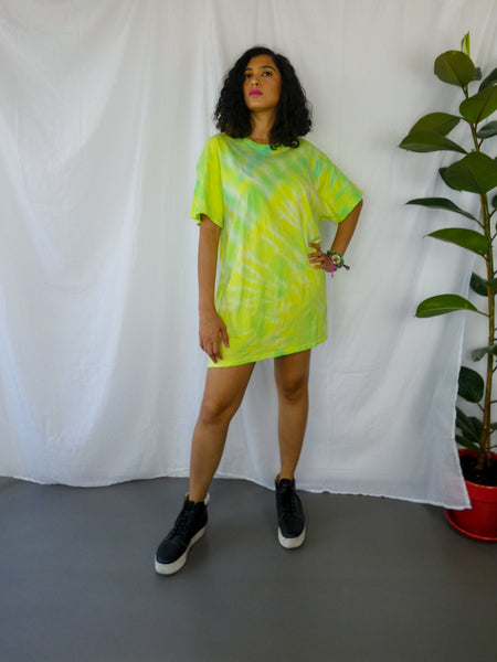 Neon Yellow and Green Tie Dye T-Shirt
