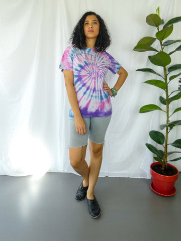T-shirt unisexe oversize orange Sunset Tie Dye