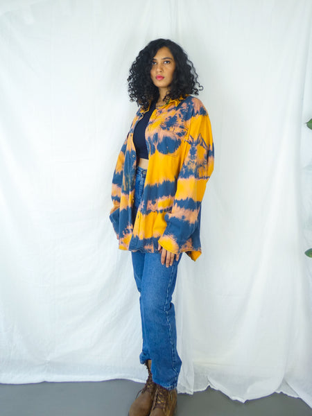 Rare Vintage Yellow, Pink and Blue Tie-Dye Shirt