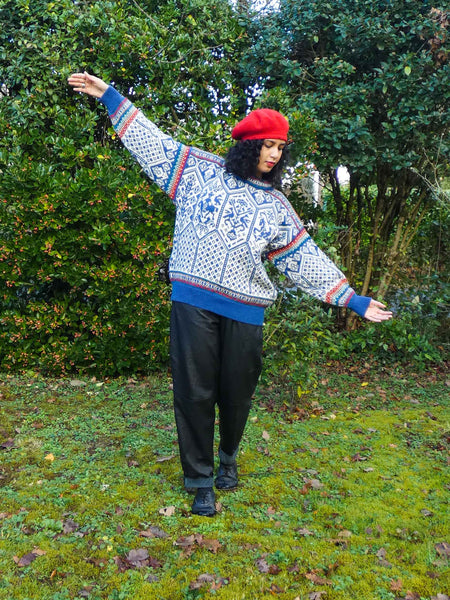 Rare Vintage Norwegian Sweater in Pure Wool