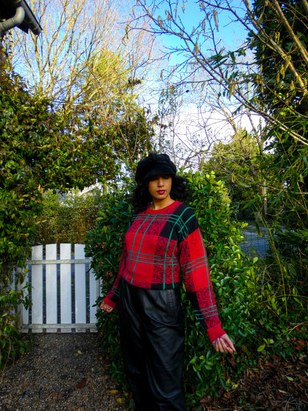 Vintage 90s style Checkered Jumper