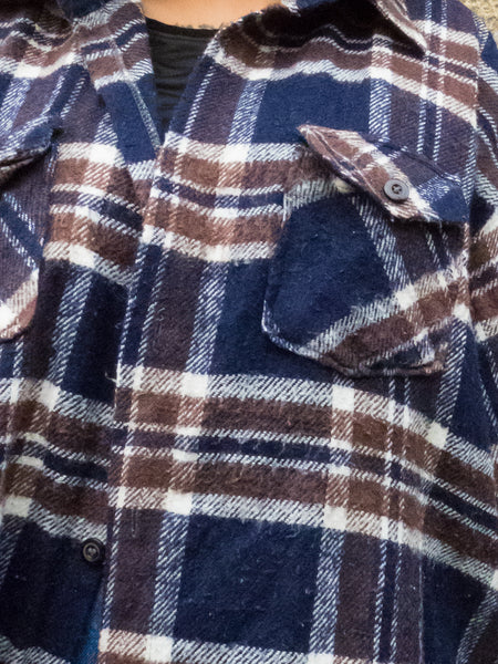 Lumberjack Vintage Brown, Navy & White Soft Flannel Shirt