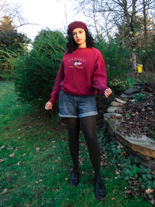 Vintage Disney Burgundy Mickey Sweatshirt