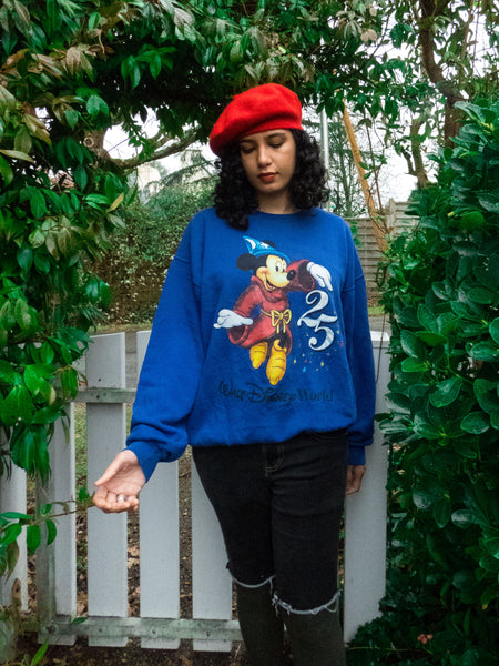 Vintage Disney Blue Mickey Sweatshirt