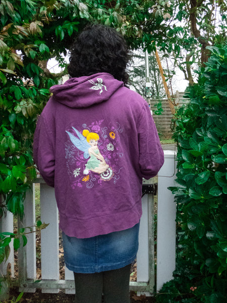 Vintage Disney Purple Tinkerbell Sweatshirt