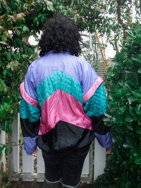 Vintage 80s-90s Colourful Sports/ Track Jacket