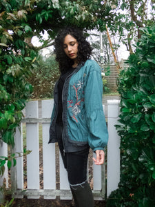 Vintage 80s-90s Embroidered Sports Track Jacket