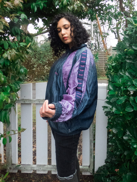 Vintage Blue and Purple Sports Jacket