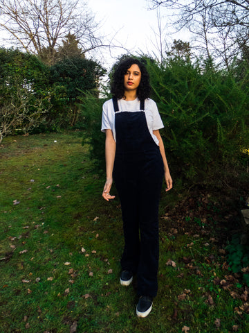 Vintage Retro Wide Legged Navy Dungaree