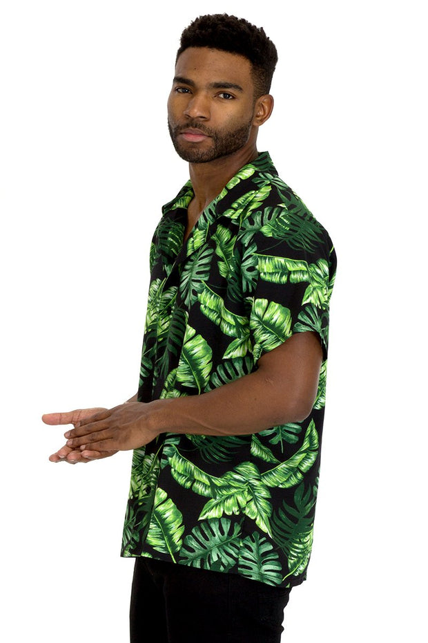 TROPICAL 2 BUTTON DOWN SHIRT