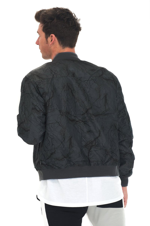 BOLT BOMBER JACKET- CHARCOAL