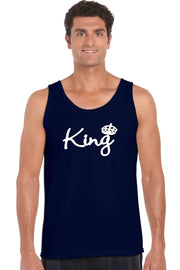 Men's Tank Top Shirt Bow Down To The King