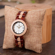 Men Watch Quartz Movement Wooden Wristwatch Women Casual Calendar