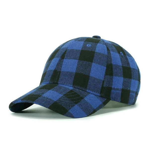 Red Plaid Men's Baseball Cap Unisex Snapback Bones Cap male Gorras