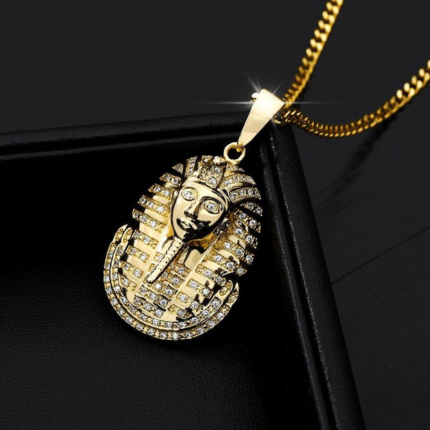New Arrival Hip Hop Jewelry Iced Out Egyptian Pharaoh Pendant Necklace