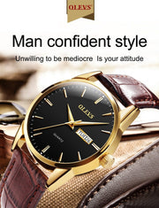 Mens Watches with Genuine leather Top Brand Fashion Casual   Sports