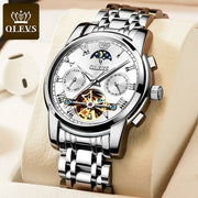 Men Watch Automatic Mechanical Business Skeleton Slef-Wind Luxury