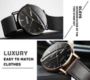 mechanical Men Watches Japan Movement Luminous Automatic Men's Watches