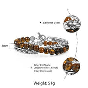 Men's Tiger Eye Stone Beaded Bracelet