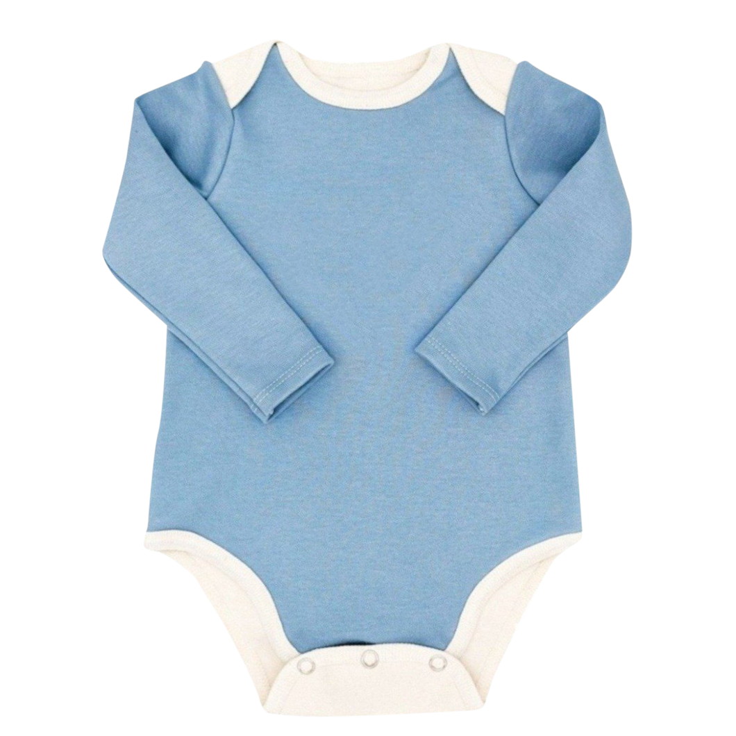 Long Sleeve Bodysuit Baby - Blue Bodysuit Baby