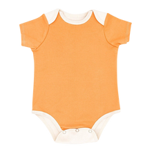 Load image into Gallery viewer, Short Sleeve Bodysuit Baby - Orange Bodysuit Baby