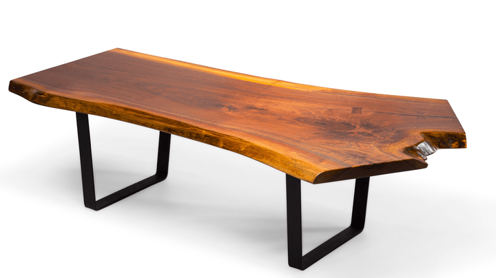 Walnut Live Edge Slab Crotch Cut Coffee Table - studiovestri