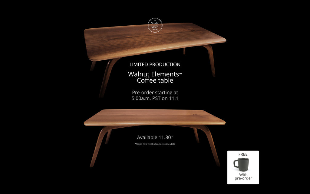 Walnut Elements Coffee Table Pre-order