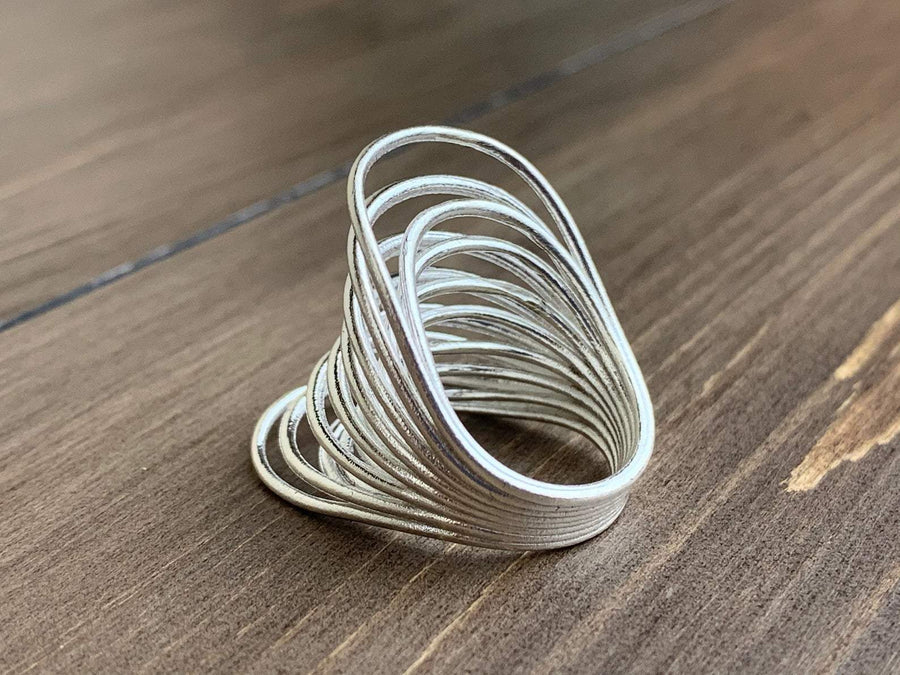 Butterfly Banded Silver Ring - studiovestri