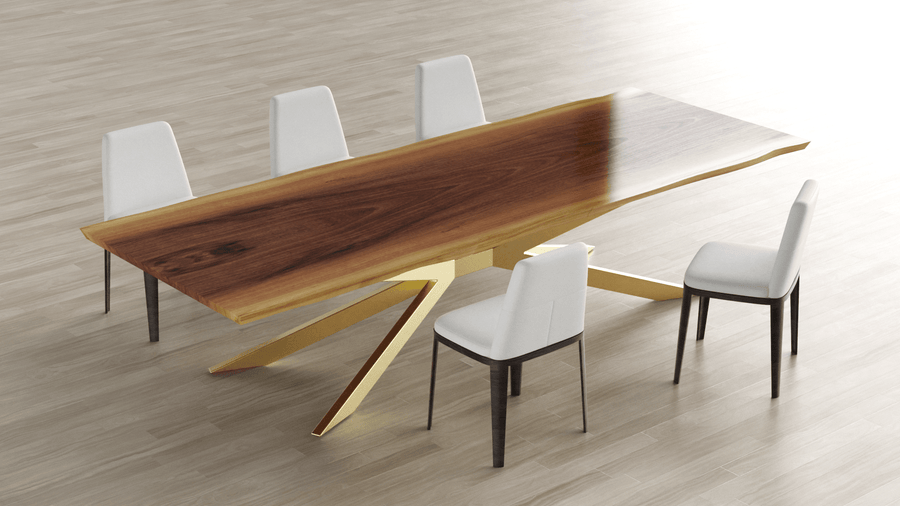 12 Foot Live Edge Dining Table - studiovestri