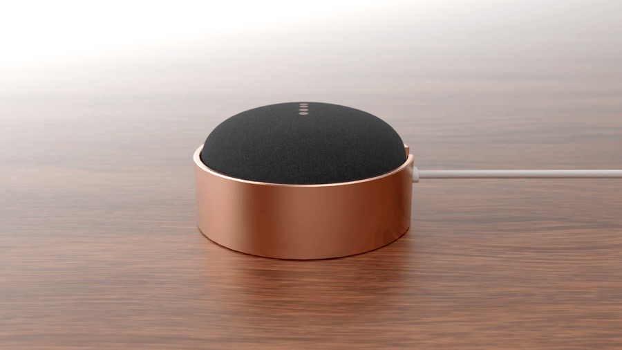 Google Home Mini Stand - Made to order. Copper stand for Google Home Mini. - studiovestri