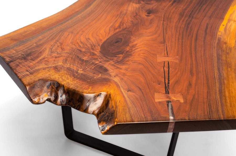 Unique Live Edge North American Black Walnut Coffee Table - studiovestri