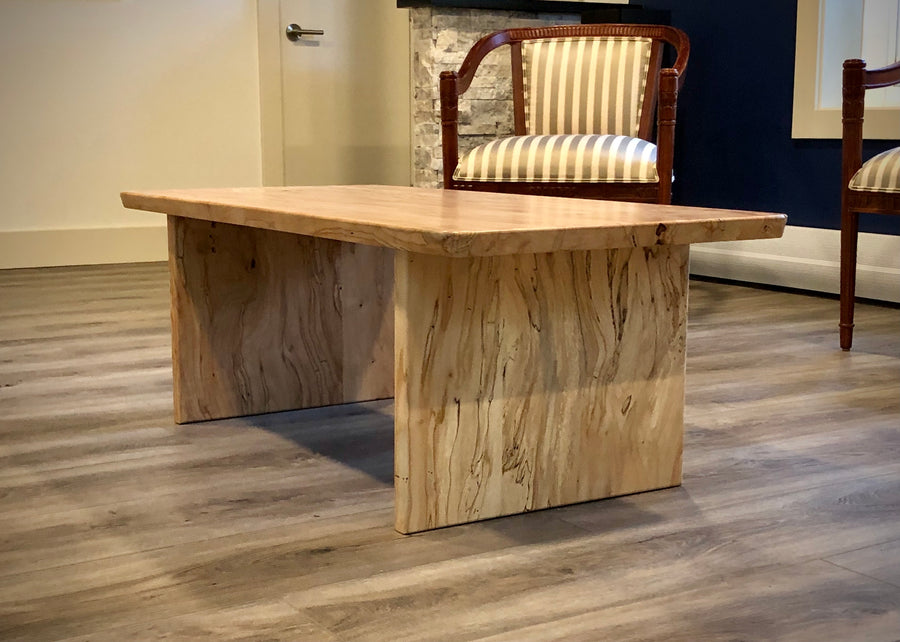 Ambrosia Maple Coffee Table — A modern take with classic materials