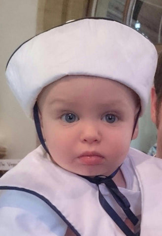 Sailor hat with Horatio Sailor suit christening suit or wedding outfit pageboy