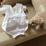 The Darcy Convertible Christening gown/romper suit.