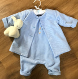 Peter Rabbit Dungarees Jacket Headband Set - Personalised with babys name