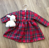 Red Stewart Tartan Girls Dress