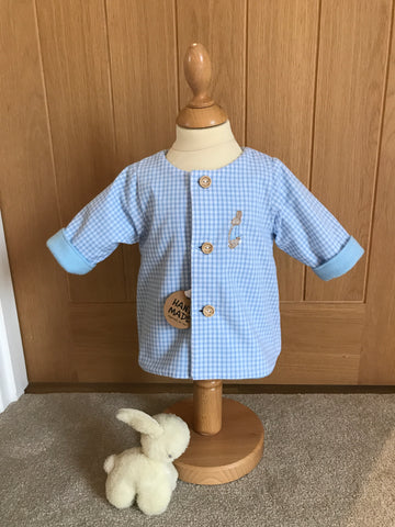 Peter Rabbit fleece lined Gingham jacket