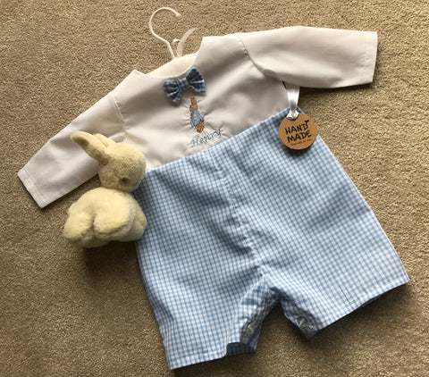 Boys romper - Peter Rabbit with personalised name