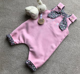 Girls Easter Bunny romper suit / Dungarees - Made in the UK