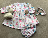 Ballerina Girls Dress, knickers and hair band