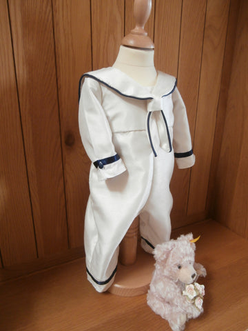 The Horatio sailor style christening outfit - choice of trim