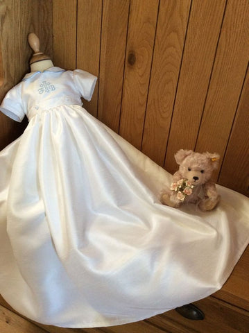 The Peter convertible christening gown/romper.