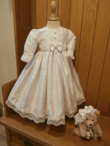 The Rebecca flower girl dress or baptism dress.