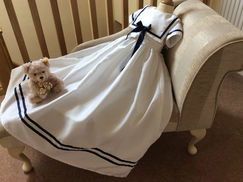 The William Convertible christening sailor gown with detachable skirt