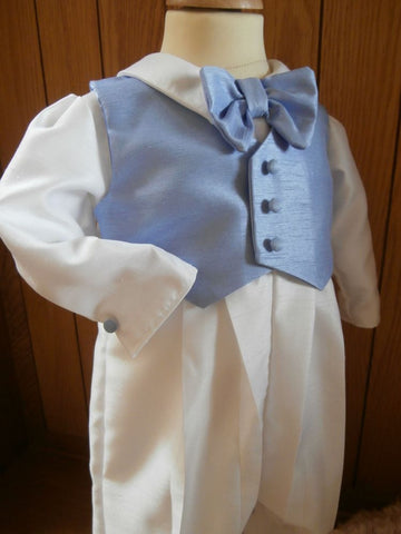 The Charles boys christening outfit in blue.