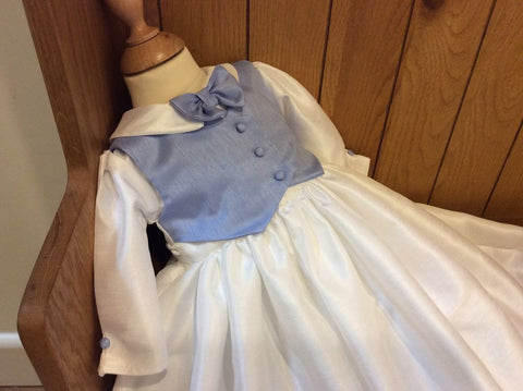 The Blue Charles convertible christening gown/romper suit.