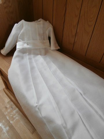 The Eden unisex christening gown for girls and boys.