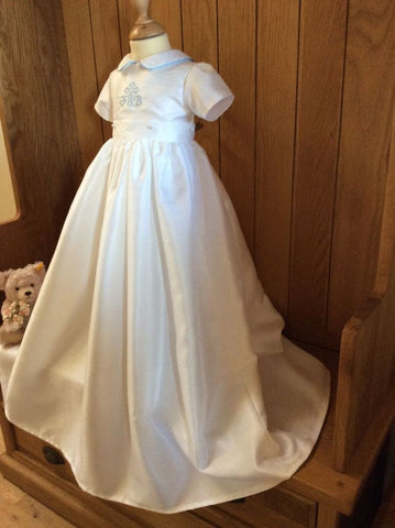 The Peter embroidered christening gown.